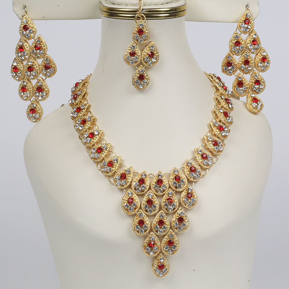 Necklace Set with Earrings and Matha Patti (PS-251)
