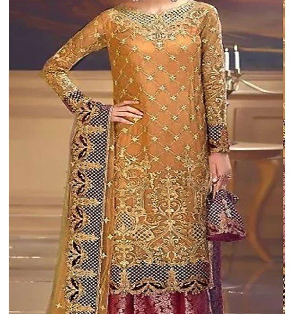 Heavy Embroidered Chiffon Bridal Dress Chiffon Dupatta (CHI-288) (Unstitched)