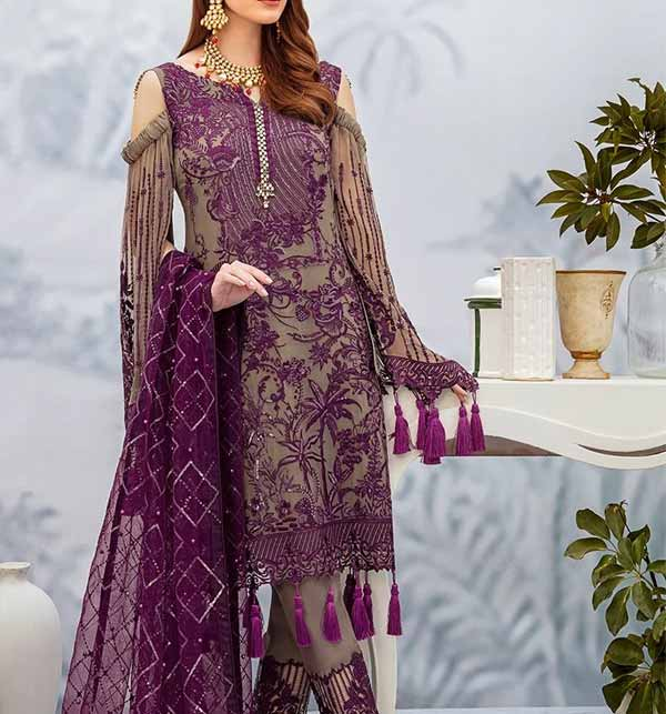 Heavy Embroidered NET Suit With Net Heavy Dupatta (CHI-468)
