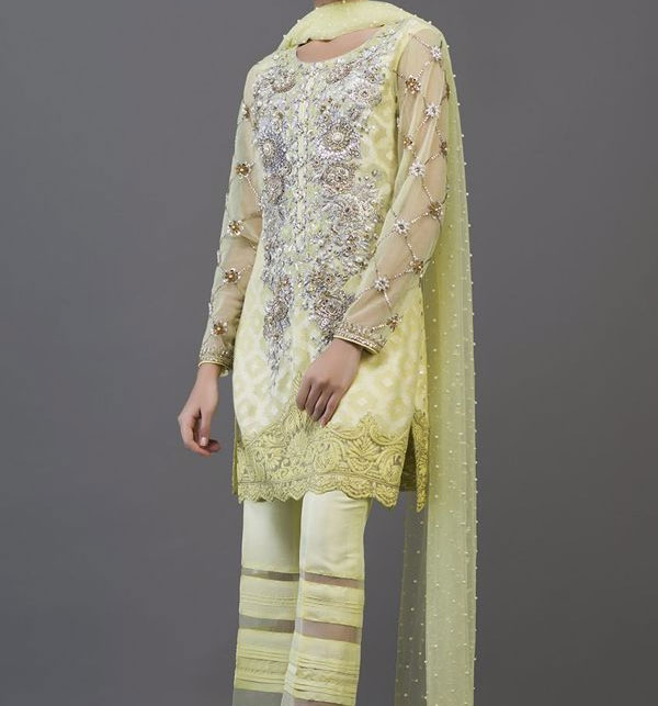 Chiffon Embroidery Suit (Unstitched) (CHI-156)