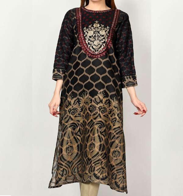 Linen Embroidery Suit With Linen Dupatta UnStitched (LN-167)