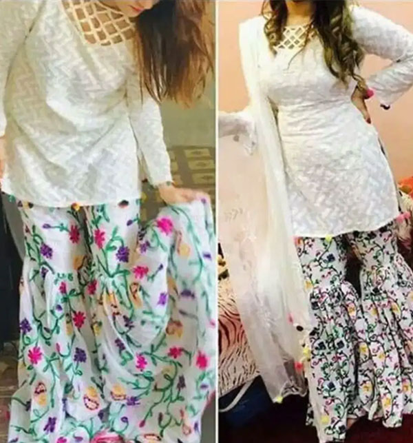Hit Design 2-Pcs Embroidered Lawn Dress with Embroidered Trouser  Un-Stitched (DRL-508)
