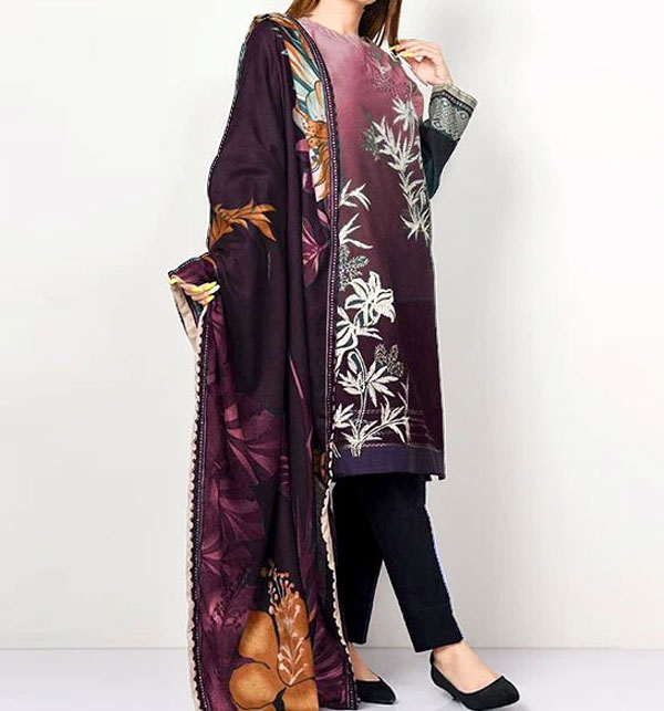 HIt Design 2020 Embroidered Lawn Suit with Lawn Dupatta  (DRL-618)