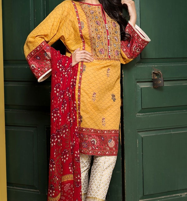 Hit Eid Embroidered Collection Lawn Suit 2020 (Unstitched ) (DRL-520)