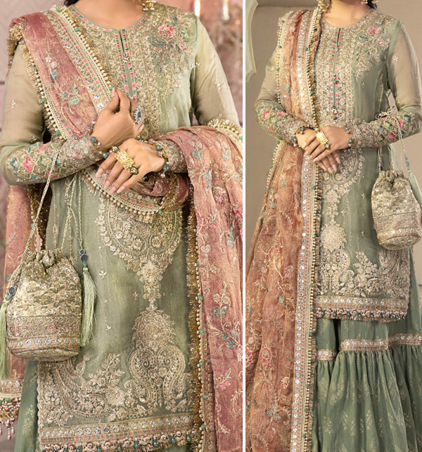 Hit  Mysooru Heavy Wedding Embroidered Collection With Net Embroidered Duppata (CHI-471)