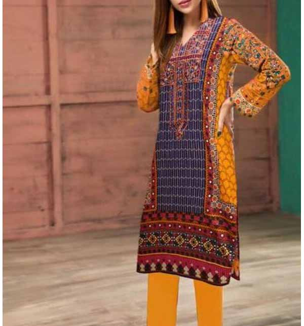 (AZADI SALE) Hit Latest Lawn Embroidery Dress 2021 UnStitched (DRL-788)