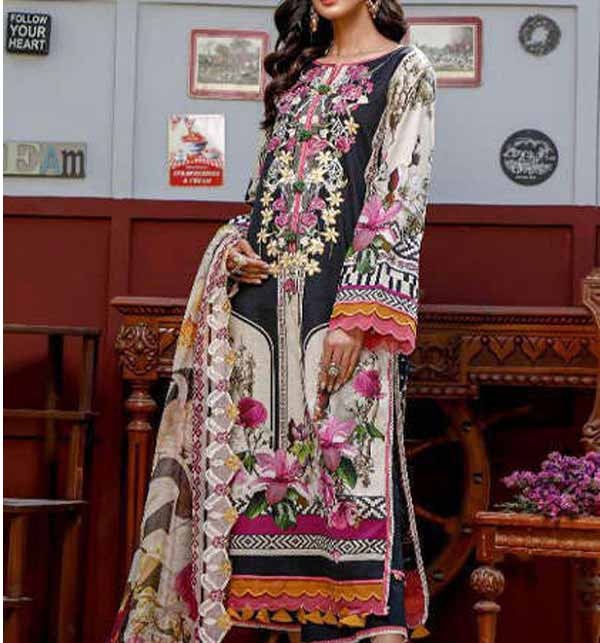 Hit Lawn Collection With Printed Chiffon Dupatta (DRL-898)