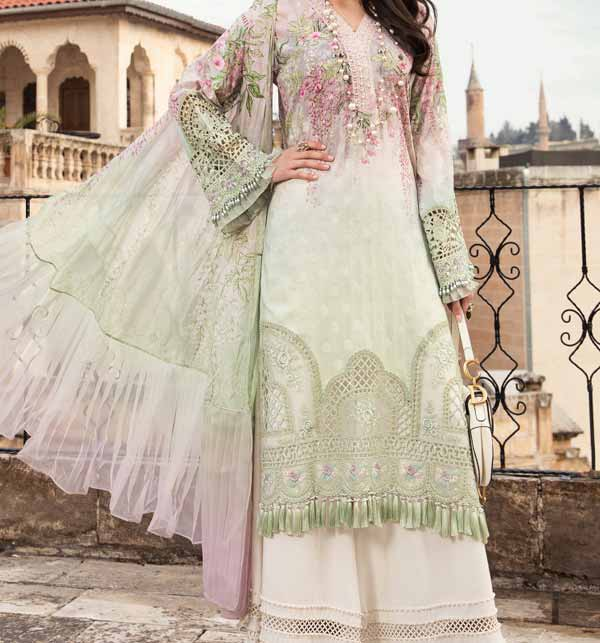 Hit Luxery Eid Lawn Suit WIth Chiffon Duppata (DRL-816)