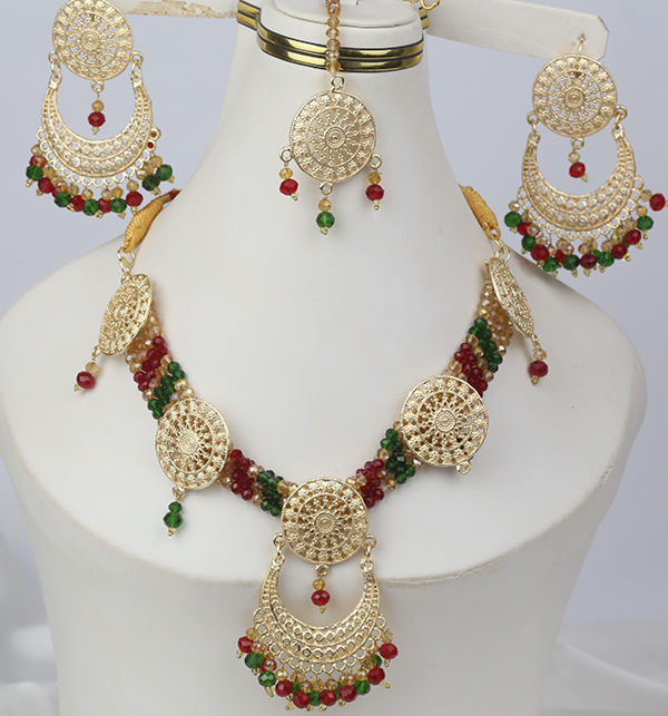 Multicolor jewelry Set With Matha Patti (PS-268)