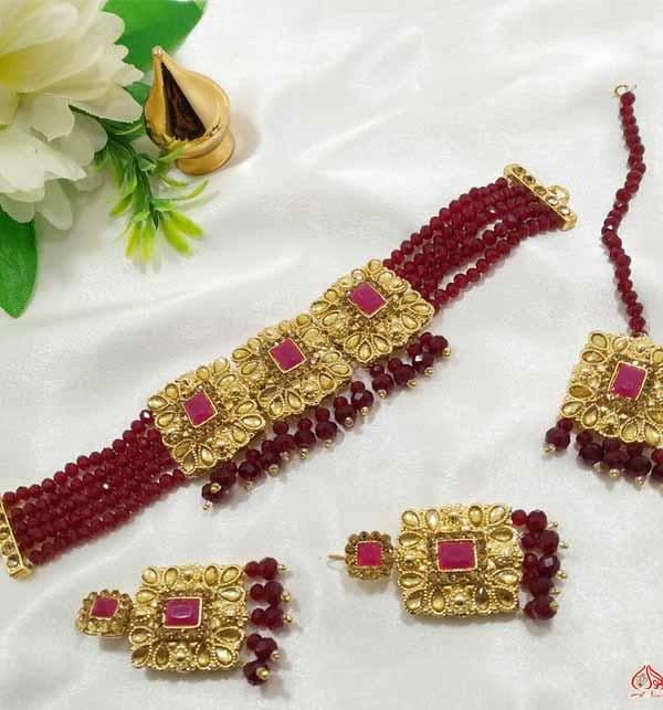 Beautiful Jewelry Set With Earing & Matha Patti (PS-396)