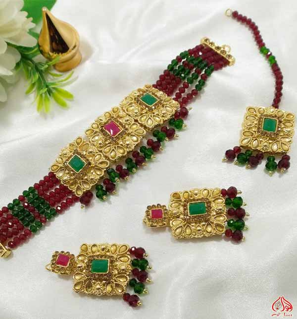 Jewelry Set With Earing & Matha Patti (PS-397)