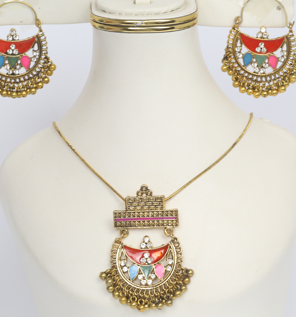 Turkish Stylish Necklace Set  With Earrings (PS-181)