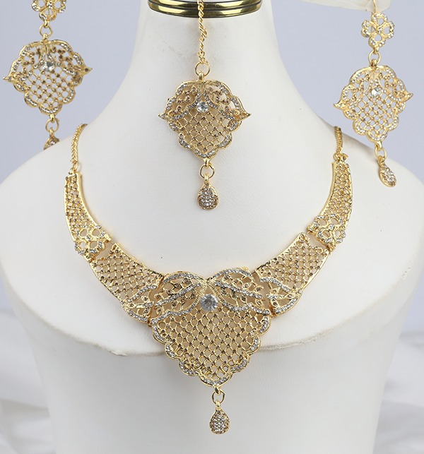 Beautiful Zircon Jewelry Set Earing With MathaPati (PS-296)