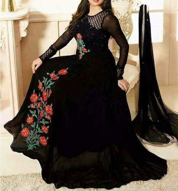 9fd4b78d0af Chiffon Embroidery Frock Unstitched (CHI-64)