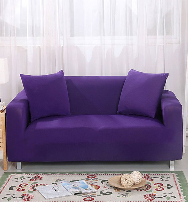 Jersey Sofa Cover - 7 Seater Dark Purple