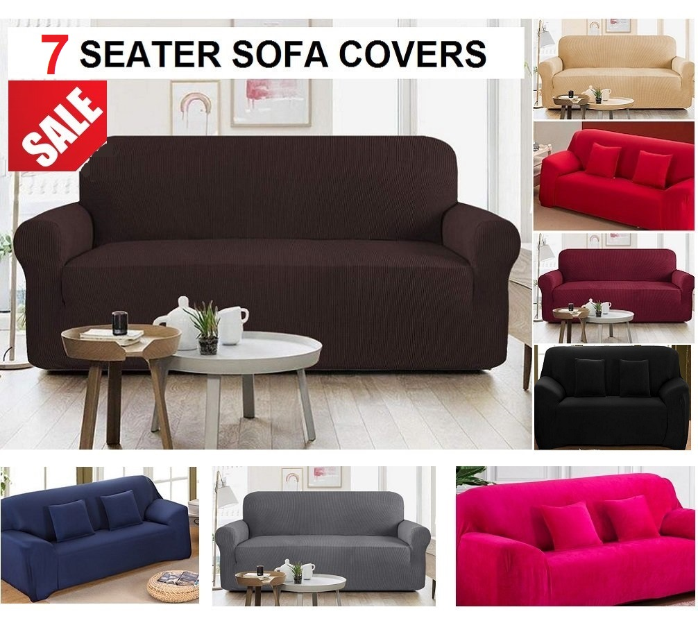 7 Seater Jersey Sofa Cover Sets (سیون سیٹر جرسی صوفہ سیٹ دستیاب ہے)