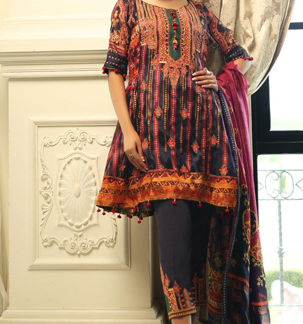 Khaddar Embroidered Suit wool shawl Unstitched - (KD-58)