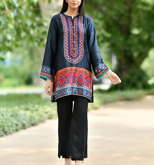 Khaddar Embroidery Suit 2019 2020 with Wool Shawl (Unstitched) (KD-46)