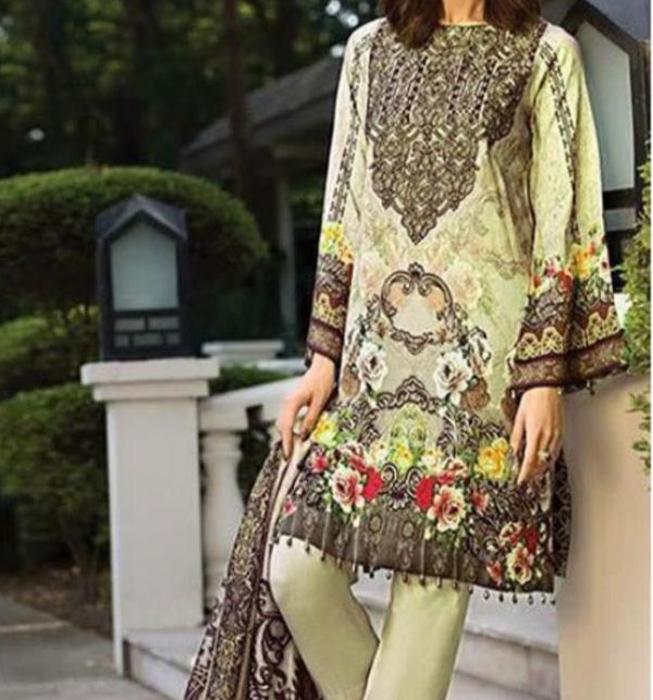 Khadder Embroidered Suit with Wool Dupatta - Winter Collection 2019/2020 (KD-85) (UnStitched)