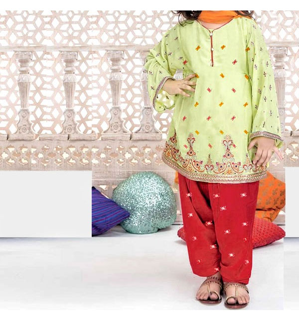 Kids 2-Pcs Embroidered Lawn Dress 2020 UnStitched (DK-115)