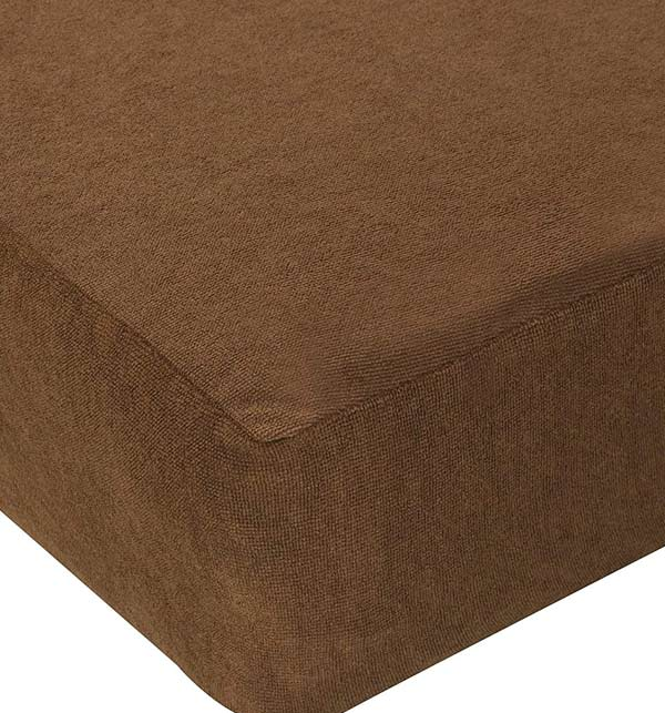 King Bed Protector Waterproof Jersey Fitted Mattress (cover) Protector - Brown