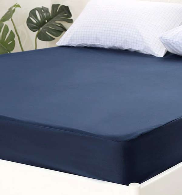 King Bed Protector Waterproof Jersey Fitted Mattress (cover) Protector - Dark Blue
