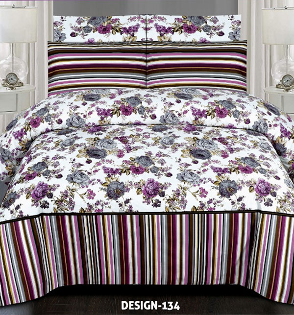King Size Cotton Bed Sheet With 2 Pillow Cover (BCP-47)