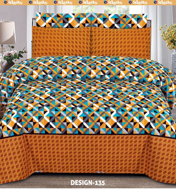 King Size Cotton Bed Sheet With 2 Pillow Cover (BCP-48)