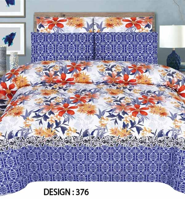 King Size Cotton Bed Sheet With 2 Pillow Cover  (BCP-52)