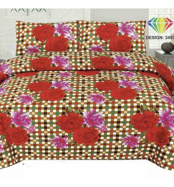 King Size Polyester Cotton Bed Sheet (PC-74)