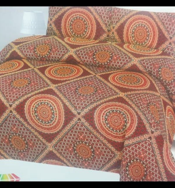 King Size Polyester Cotton Bed Sheet with 2 Pillow Covers (PC-84)