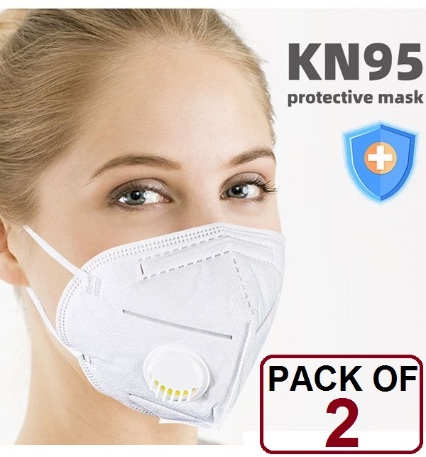 PACK OF 2 MASK (KN-95) Face Mask Protective