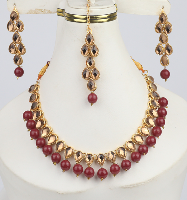 Beautiful Stone Necklace Set For Girls (PS-291)