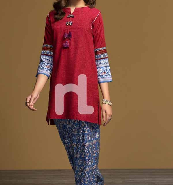 Latest Lawn Heavy Embroidered Suit Emb Trouser (Unstitched)  (DRL-739)