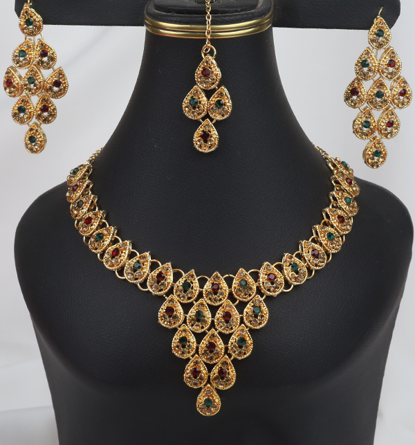 Latest Bridal Artificial Jewellery Designs For Ladies  (PS-256)
