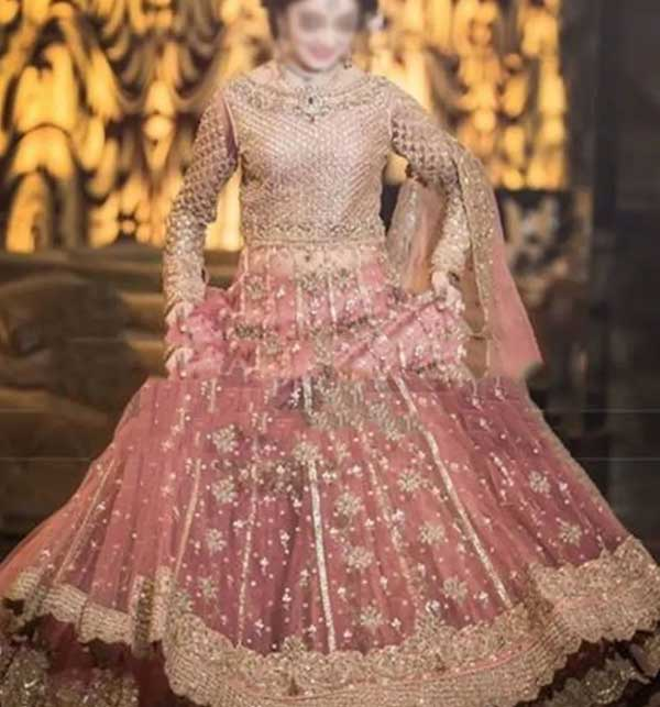 NET Bridal Embroidered Hand Work MAXI with NET Embroidery Dupatta (CHI-501)