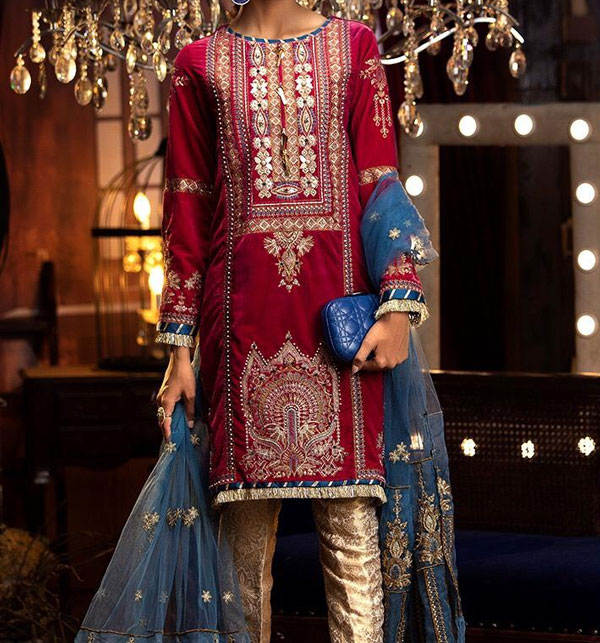 Latest Embroidered Lawn Dress 2020 with Lawn Dupatta UnStitched (DRL-564)
