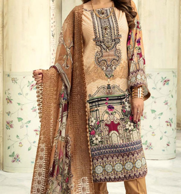 Latest Lawn Collection 2020 With Chiffon Duppata UnStitched  (DRL-610)