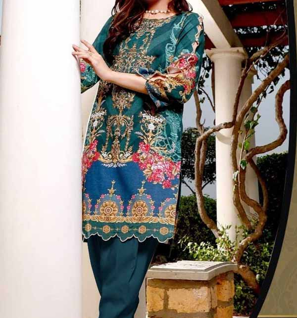 Latest Luxury Lawn Collection 2021 with chiffon Printed Dupatta (DRL-775)