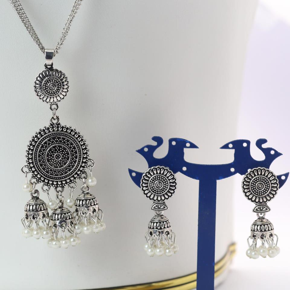 Latest Silver Latest Mala Necklace - (PS-148)