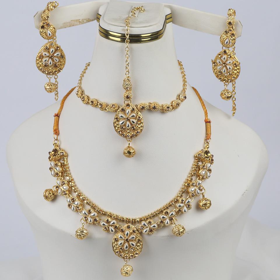 Latest Stone Jewelry Set Earring With Matha Patti  (PS-329)