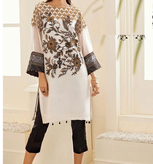 Lawn 2 pcs Suit Front Full Heavy Embroided (Unstitched) (DRL-476)