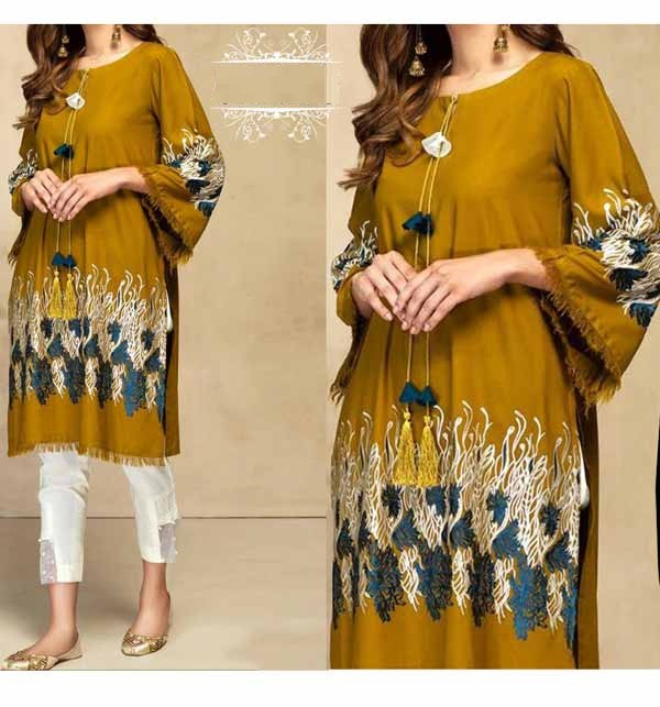 Lawn 80/80 Full Sequins Embroidered 2-Pec Dress (Unsitched) (DRL-859)