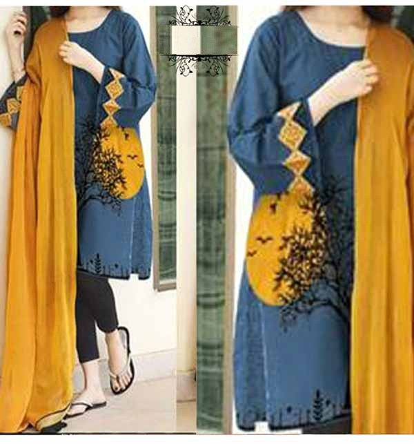 LAWN SEQUENCE Embroidered Suit EMB Dupatta 2PC (Unsicthed) (DRL-692)