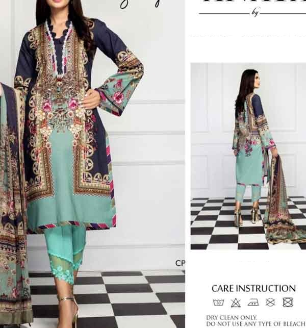 Lawn 90/70 Digital Printed Suit With Chiffon Duppata (Unstitched)  (DRL-671)