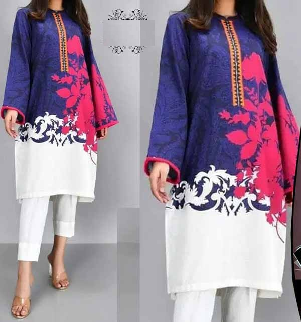 Lawn  90/70  Heavy Embroidered Dress Chiffon Dupatta UnStitched (DRL-707)