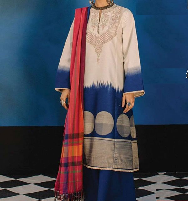 Lawn Embroidered Dress With Chiffon Dupatta (DRL-374) (Unstitched)