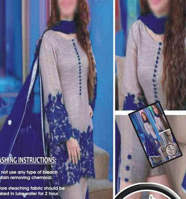 Lawn Heavy Embroidered Dress 2-Pcs UnStitched (DRL-684)