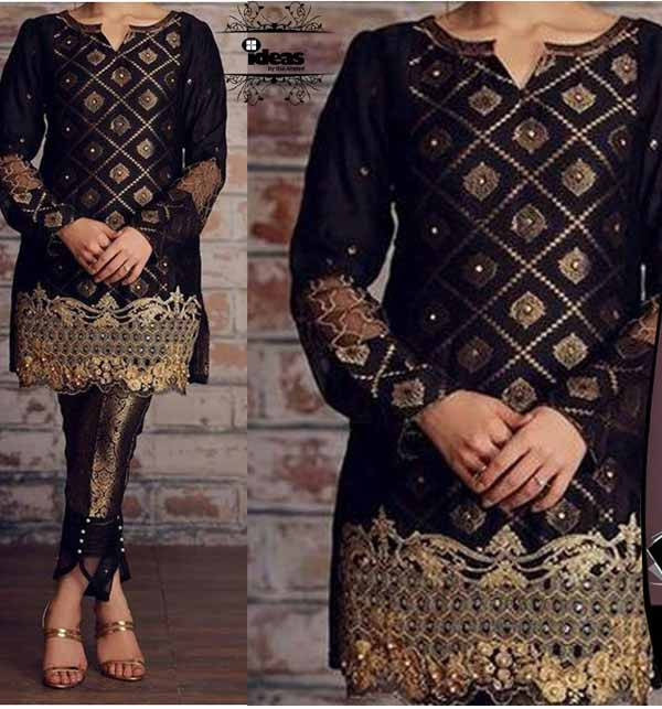 Lawn Sequence Heavy Embroidery Suit Emb Trouser (DRL-812)