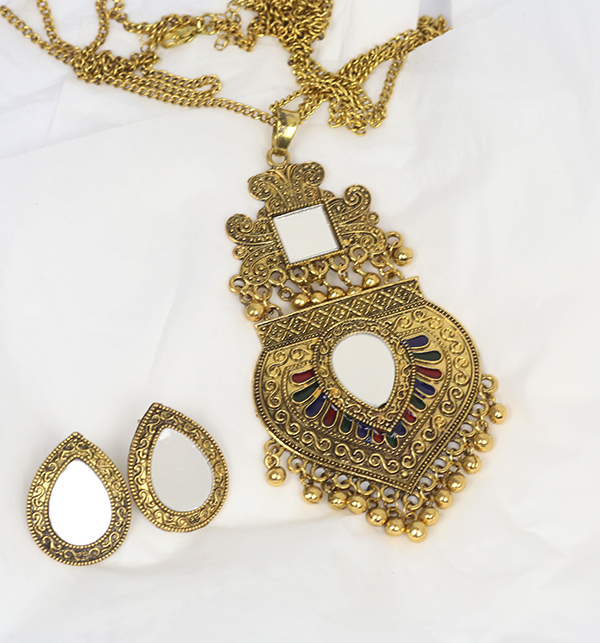 Turkish Design Antique Necklace Set With Earrings (PS-182)